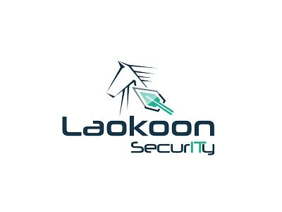 Laokoon SecurITy identity corporate security horse trojan logodesign logo