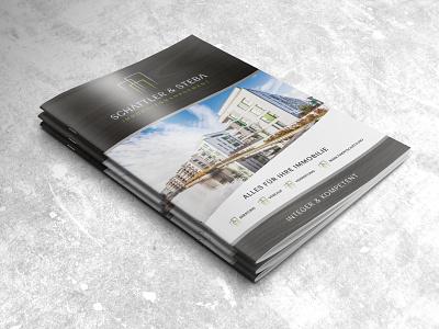 Brochure-Design Real Estate design properties logo folder flyer booklet catalogue real estate brochure