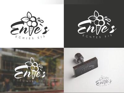 Enies - Echtes Eis store icecream ice logodesign logo