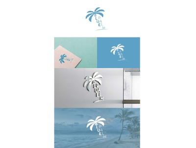 Logodesgign Blue Palm design graphicdesign branding logo logodesign