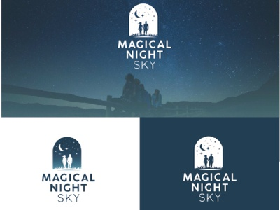 Logodesign Magical Night Sky graphicdesign branding logo logodesign