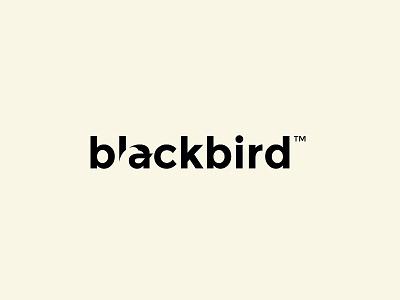 Negative Space Logotype simple black logomark ove sinclair brand identity negative space mark concept logo logotype bird blackbird