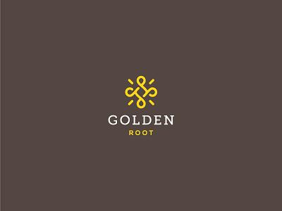 Golden Root latte flow visual identity brand identity simple solid luxury food lines logo mark logomark