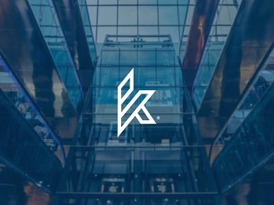 K lettermark lines flow mark visual identity brand identity simple technology bold sharp logo lettermark logomark