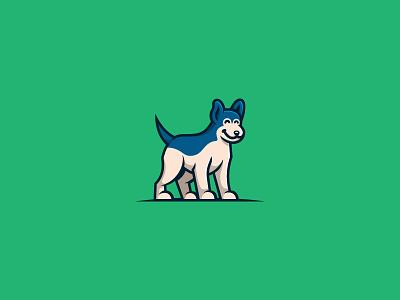 Doggo blue anatomy puppy visual identity brand identity bold mascot pet dog logo cute logomark