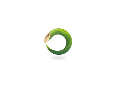 Bamboo gradient flow circle visual identity brand identity sophisticated furniture property bamboo logo mark logomark