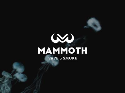 Mammoth Vape & Smoke logomark horn mv logodesign smoke vaping mammoth monogram