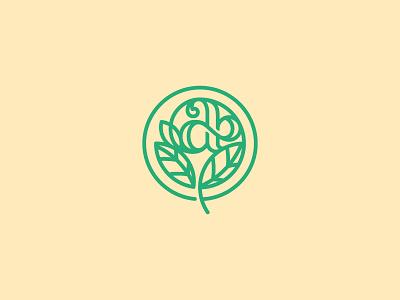 a nature mark design solid monogram flow visual identity brand identity logomark logo