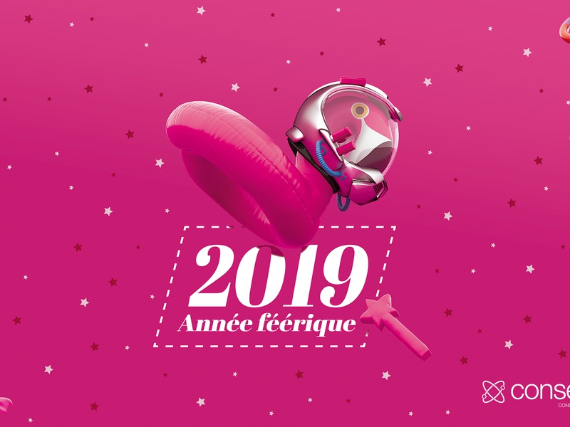 Happy new year 2019 pinkfloyd creative webdesign agency 2019 happy new year cgi lycanthrop conserto design illustration vray maxon 3d cinema 4d c4d nicolas delille