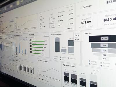 Data Visualization Wireframe Template