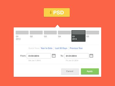 Custom Date Picker Freebie date picker psd free ui flat date dropdown minimal clean interface colors freebie