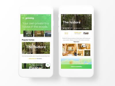 Getaway Tiny Home - iOS tinyhouse images green gradient app ios home getaway