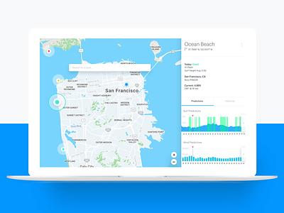 Surf.io V2 chart graph design search ui data visual map macbook pro app surf