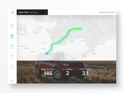 Car Dashboard UI Concept