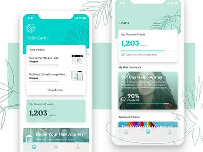 Hair La Vie Mobile App branding ux cards iphonex android ios mobile ui mobile app beauty