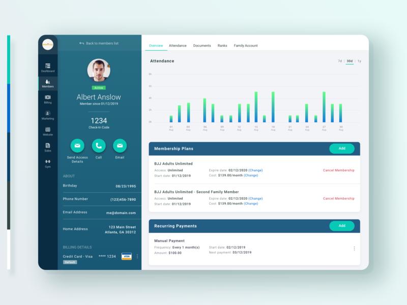 Member Profile - Gym Management Platform