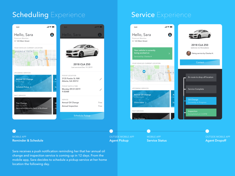 Mobile Vehicle Service App - Mercedes Benz