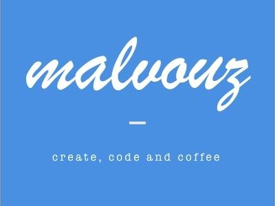 Our New Logo (Malvouz) sketch blue logo