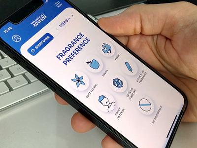Shampoo Advisor Prototype mobile prototype app animation ui