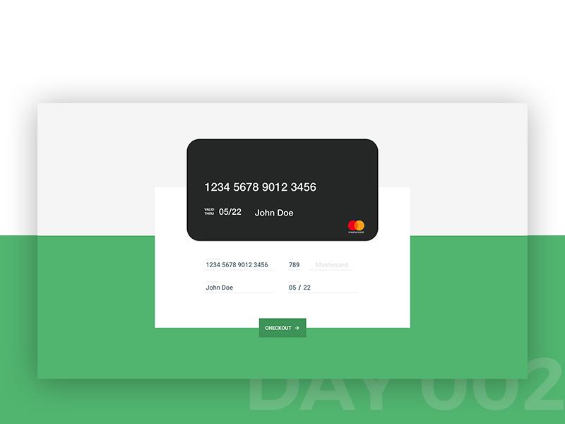 #002 - Checkout page dailyui