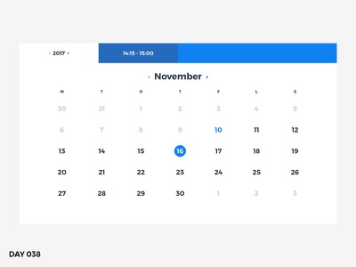 #038 – Calendar calendar ux ui dailyui