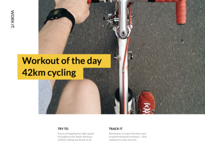 #062 – Workout of the day day the of workout web app ux ui dailyui