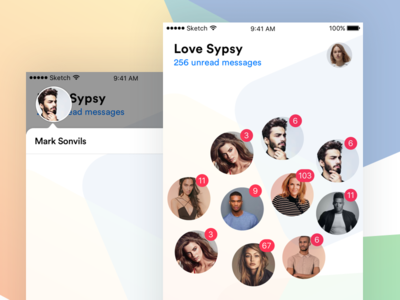 New Chat Interface userinterface ux ui mockup ios behance dribbble chat. design