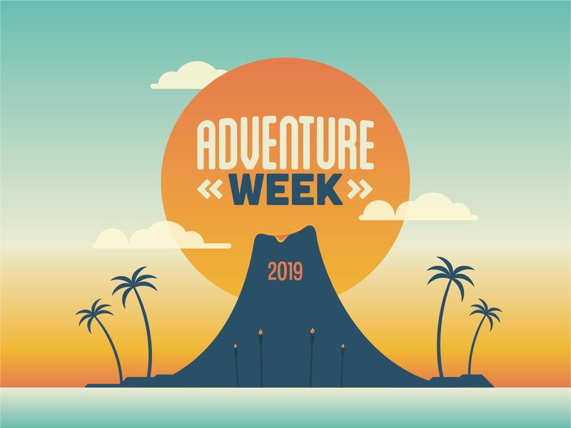 Adventure Week 2019 Branding kids summer island beach tropical church branding week adventure vbs church