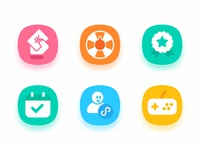 Icon set for work project