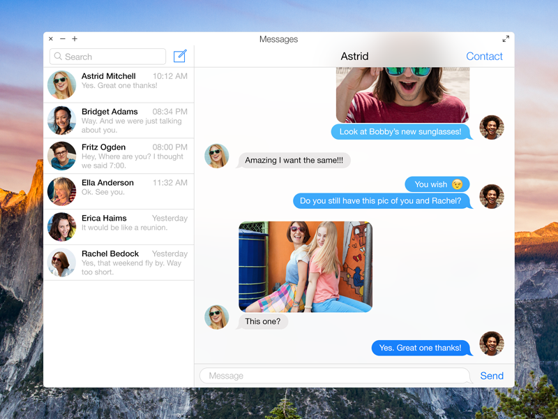 Messages OS X Yosemite yosemite os x messages ios flat redesign