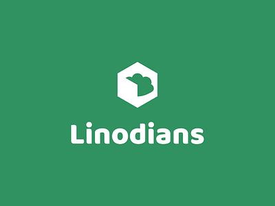 Linodians Logo (Linode Fan Site) cloud hexagon green branding logo community servers fan art linode