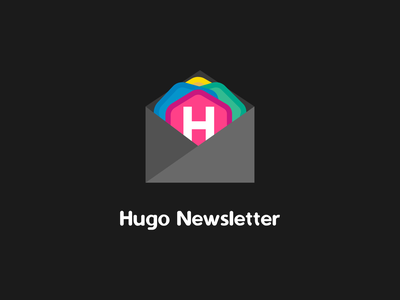 Hugo Newsletter logo newsletter jamstack ssg golang go hugo