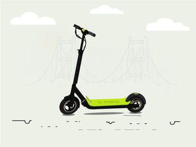 Electric Scooter illustration