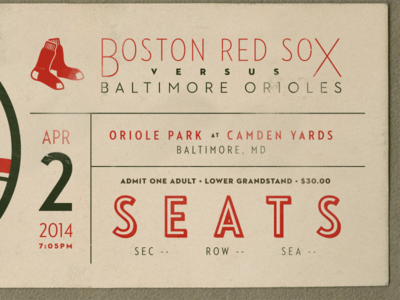 Red Sox Ticket
