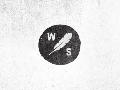 Wood Shed Monogram wood shed feather logo monogram