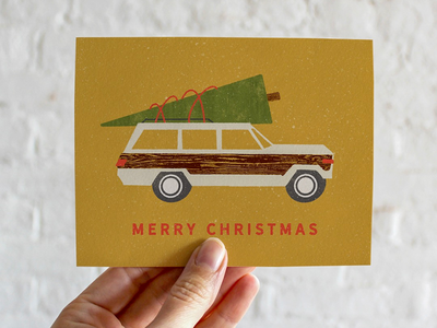 Woody Wagoneer Christmas Card