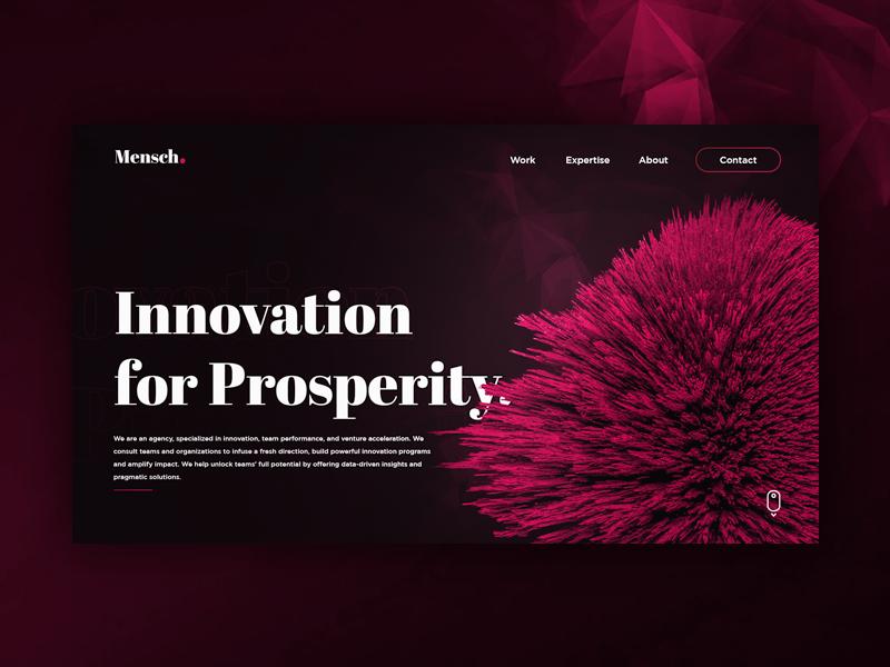 Mensch Landing Page uiux web design
