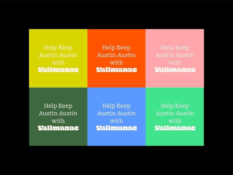 Y'allmanac – Social doyle type yallmanac austin community posts instagram social media color