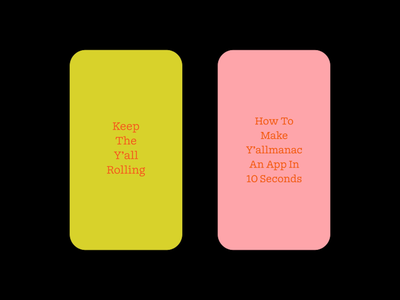 Y'allmanac – Social web mobile color austin yallmanac 2d gif animation post instagram social media