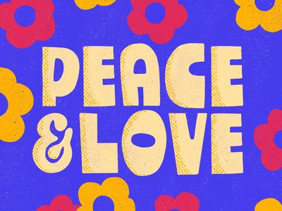 Groovy Custom Type color design lettering illustration social media hippie retro vintage good flower typography type 60s 70s groovy love peace procreate