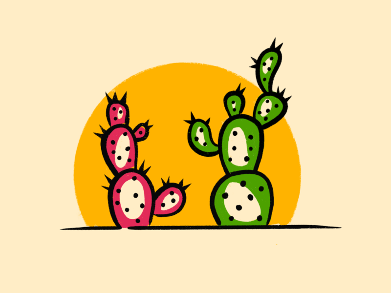 Cosmo & Wanda You Ain't Slick prickly pear draw cartoon desert plant illustration procreate nick cactus