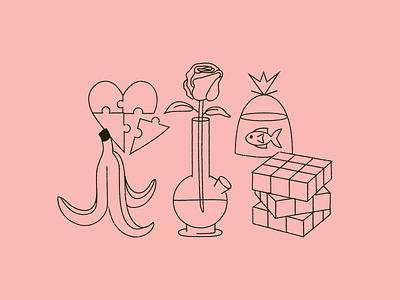 2021 Doodles monoline illustration