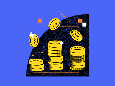 Save Money with Fiber Internet black blue yellow vector texture perspective 3d flat data invest cash internet tech graphic design graph coins money illustration