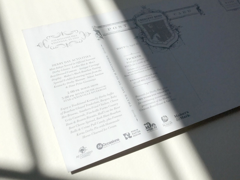 Derby Days Invitation 2018 graphic  design invitation postcard design print derby