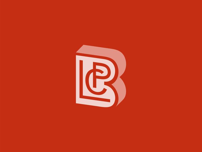CPLB letter monogram logo monogram letter mark logo 3d identity logo wordmark monogram