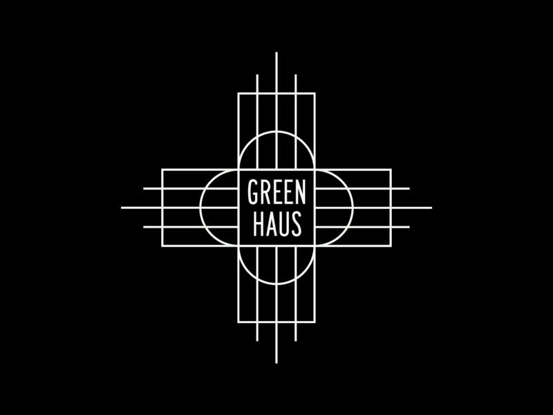 Green Haus sans serif art deco minimal logotype type vector branding logo typography