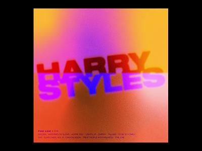 Fake Album Art — Harry Styles gradient harry styles type retro helvetica neue album art