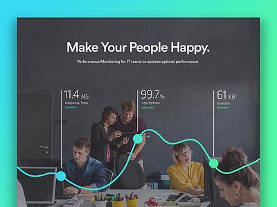 Website Header Graphic Concept monitoring server ux graphics landing page design website