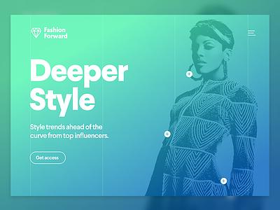 Fashion Site Exploration style fashion ux graphics landing page design website