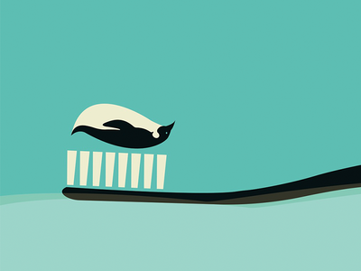 Penguin and toothpaste